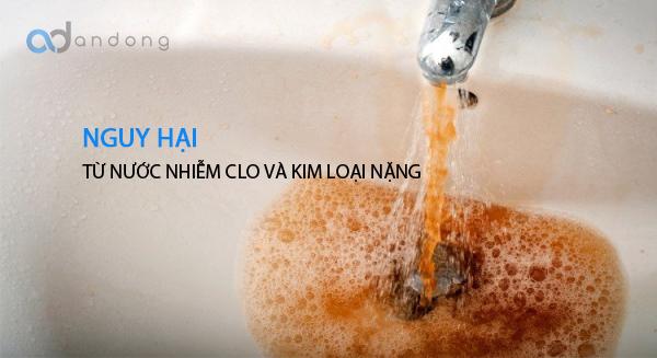 Sự nguy hiểm của nước sinh hoạt nhiễm clo dư và kim loại nặng !!!