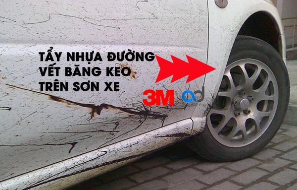 Cách Tẩy Nhựa Đường không hại sơn xe hơi